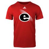 Adidas Red Logo T Shirt-e Slash Mark