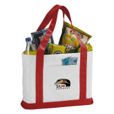 Contender White/Red Canvas Tote-SIUE Cougars Official Logo