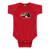 Red Infant Onesie-SIUE Cougars Official Logo