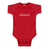 Red Infant Onesie-Institutional Mark