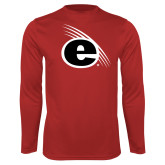 Syntrel Performance Red Longsleeve Shirt-e Slash Mark