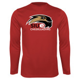 Performance Red Longsleeve Shirt-Cheer and Dance