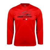 Performance Red Longsleeve Shirt-Cross Country Shoe
