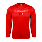 Performance Red Longsleeve Shirt-Cross Country Arrow