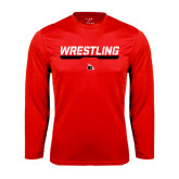 Performance Red Longsleeve Shirt-Wrestling Bar
