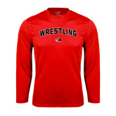 Performance Red Longsleeve Shirt-Wrestling Arched