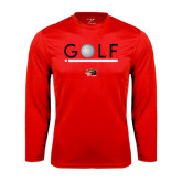 Syntrel Performance Red Longsleeve Shirt-Golf Star and Stripes