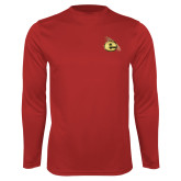 Performance Red Longsleeve Shirt-Gold E