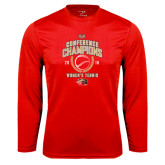 Syntrel Performance Red Longsleeve Shirt-2016 Womens Tennis Conference Champions