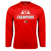 Syntrel Performance Red Longsleeve Shirt-2016 Mens Soccer Champions