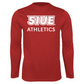 Syntrel Performance Red Longsleeve Shirt-SIUE