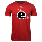 Adidas Climalite Red Ultimate Performance Tee-e Slash Mark