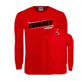 Red Long Sleeve T Shirt-Cougars #SIUENATION