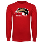 Red Long Sleeve T Shirt-Track and Field