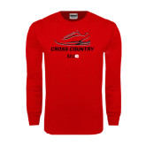 Red Long Sleeve T Shirt-Cross Country Shoe