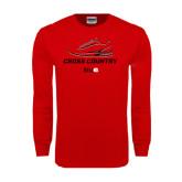 Red Long Sleeve T Shirt-Cross Country Shoe