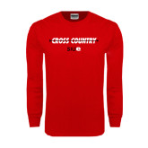 Red Long Sleeve T Shirt-Cross Country Arrow