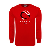 Red Long Sleeve T Shirt-Abstract Tennis Ball
