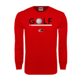 Red Long Sleeve T Shirt-Golf Star and Stripes