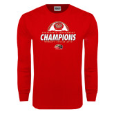 Red Long Sleeve T Shirt-2016 Womens Soccer Champions