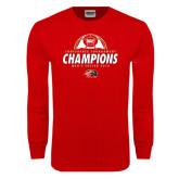 Red Long Sleeve T Shirt-2016 Mens Soccer Champions