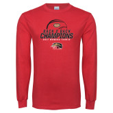 Red Long Sleeve T Shirt-2017 Womens Tennis Back 2 Back Champions
