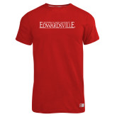 Russell Red Essential T Shirt-Institutional Mark