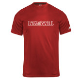 Russell Core Performance Red Tee-Institutional Mark