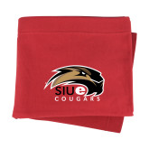 Red Sweatshirt Blanket-SIUE Cougars Official Logo