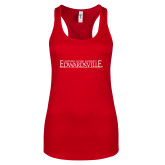 Next Level Ladies Red Ideal Racerback Tank-Institutional Mark