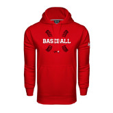 Under Armour Red Performance Sweats Team Hoodie-Baseball Seams
