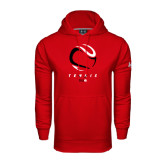 Under Armour Red Performance Sweats Team Hoodie-Abstract Tennis Ball