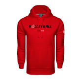 Under Armour Red Performance Sweats Team Hoodie-Volleyball w/ Ball