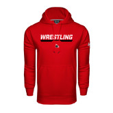 Under Armour Red Performance Sweats Team Hoodie-Wrestling Bar