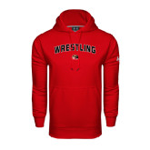 Under Armour Red Performance Sweats Team Hoodie-Wrestling Arched