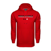 Under Armour Red Performance Sweats Team Hoodie-Track and Field Lines