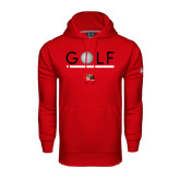 Under Armour Red Performance Sweats Team Hoodie-Golf Star and Stripes