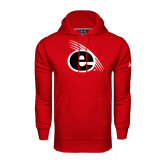 Under Armour Red Performance Sweats Team Hoodie-e Slash Mark