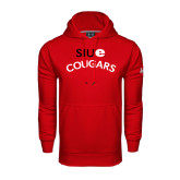 Under Armour Red Performance Sweats Team Hoodie-SIUE Arched Cougars