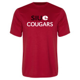 Performance Red Tee-SIUE Cougars Stacked