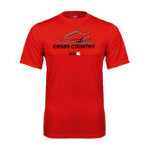 Performance Red Tee-Cross Country Shoe