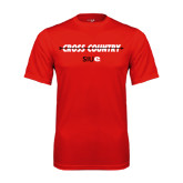 Performance Red Tee-Cross Country Arrow