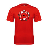 Syntrel Performance Red Tee-Geometric Soccer Ball