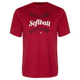 Performance Red Tee-Softball Seams