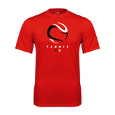 Performance Red Tee-Abstract Tennis Ball
