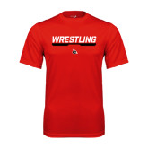 Performance Red Tee-Wrestling Bar