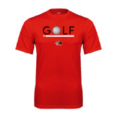 Syntrel Performance Red Tee-Golf Star and Stripes