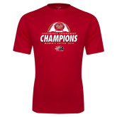Syntrel Performance Red Tee-2016 Womens Soccer Champions