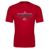 Syntrel Performance Red Tee-2016 Womens Volleyball Champions