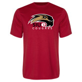 Performance Red Tee-SIUE Cougars Official Logo